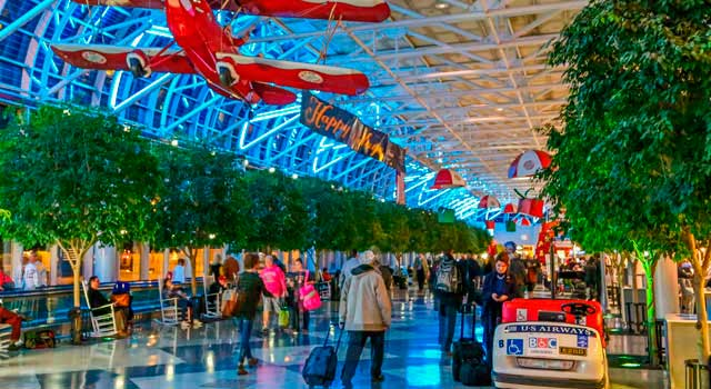 Charlotte Airport served 44.8 million passengers in 2015.